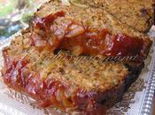 Pain viande,sauce barbecue oignons caramélisés
