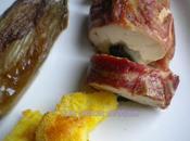 Filet poulet farci pruneaux Comté croûte pancetta