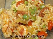 paella poulet crevettes