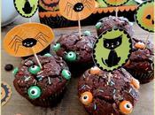 Petits cakes chocolat pour Halloween
