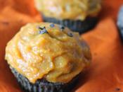 Cupcakes sésame noir, glacage courge (spécial Halloween)