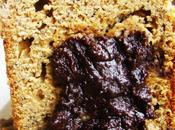 cake bananes coeur dégoulinant chocolat.....