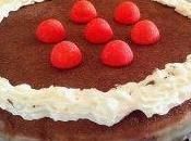 génoise sans oeufs sarrasin fourrée fraise ganache chocolat blanc-cacao