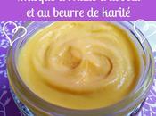 Masque capillaire l'huile d'avocat beurre karité