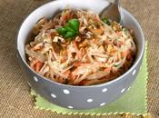 Salade céleri rave carotte noix