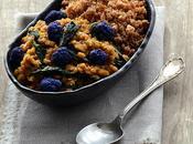 Dhal lentilles corail, blettes chou-fleur violet, sarrasin boulgour...IG vegan