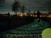 merveilleuse piste cyclable illuminée