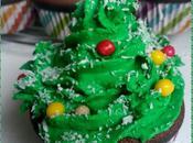 Cupcakes Noel chocolat coeur Bounty