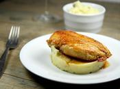 Blanc poulet jaune Landes purée pomme terre truffée