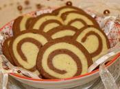 Biscuits spirales chocolat vanille {Bredele Noël}
