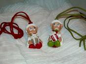 Collier daim avec bébé Noël porcelaine froide