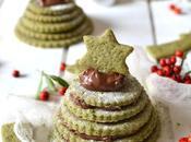 Petits sapins biscuits matcha pâte tartiner 100% végétal