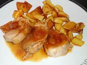 Filet mignon (porc) chutney mangues pommes terre sautées