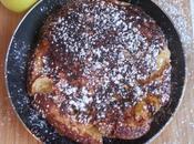 Gâteau pommes, miel fleur, poële