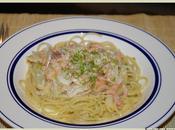Spaghettis saumon fume