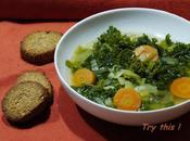 Soupe kale, sablés parmesan sésame