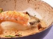 QUENELLE LANGOUSTINES CHAMPIGNONS SAUVAGES, ÉMULSION Crème Bresse