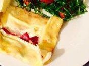 Chandeleur salée chèvre magret abricot moelleux sauce tomate mozza basilic