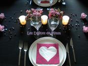 table pour Saint-Valentin nuances rose