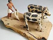 animaux pharaons modèle scène labour (louvre 27069)