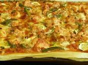 Miam Pizza Poulet -Courgettes -Poivron Fromages