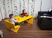 unfold table pour enfants avec double assises