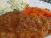 Côtelettes porc sauce pommes chili