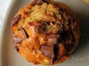 Muffins purée d'amande pépites chocolat