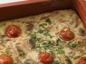 Quiche sans pâte tomates cerises parmesan