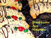 Biscuits-Demi-lunes noisettes pour fêtes d'année