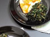 Kale sauté œufs plat