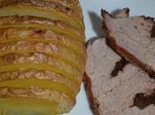 Roti veau tapenade pomme terre suédoise