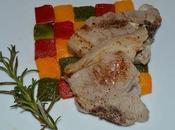 Cotelettes d'agneau romarin damier poivron