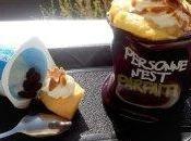 yaourt fondant pomme-raisins amandes