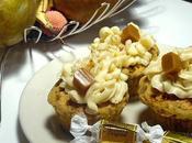 Cupcakes poire/nougatine, caramel beurre salé