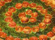 Tarte épinards tomates cerises