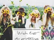 wish list printemps