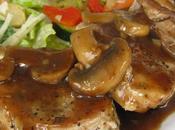 Médaillons porc, sauce champignons
