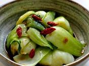 P138 choi sautes l'ail piments seches