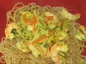 Crevettes sautées l'asiatique