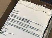 écrit lettre démission gâteau