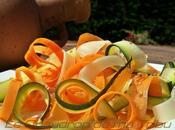Meli-melo carottes courgettes tagliatelles
