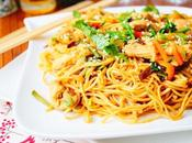 Nouilles chinoises poulet légumes