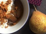 Aujourd'hui, j'ai testé –des poires chai, crème fouettée épices, miettes spéculoos