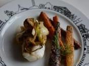 Lotte l'aillet frais carottes nouvelles sésame