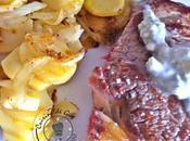 Pommes terre curry oignons entrecôte roquefort plancha®ENO