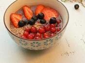 Petit-déjeuner protéiné chocolat fruits rouges