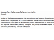 parlement européen, l'art d'étouffer politique. Président Schulz décidé reporter vote rapport Lange Traité commercial d'investissement transatlantique