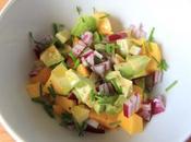 Salade Paléo idée recette d'été base mangue d'avocat
