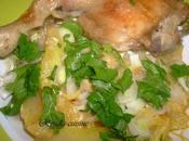 Kbab algérois poulet (Poulet frites sauce blanche) كباب جزائري